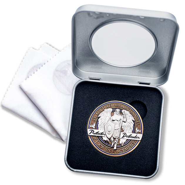 Saint Michael Challenge Coin Gift Box