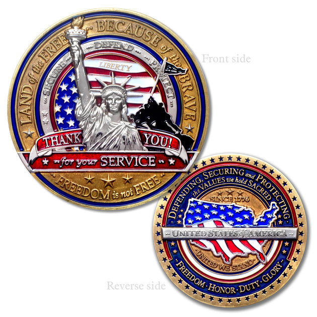 Military Thank you Challenge Coin