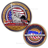 Military Statue of Liberty Challenge Coin