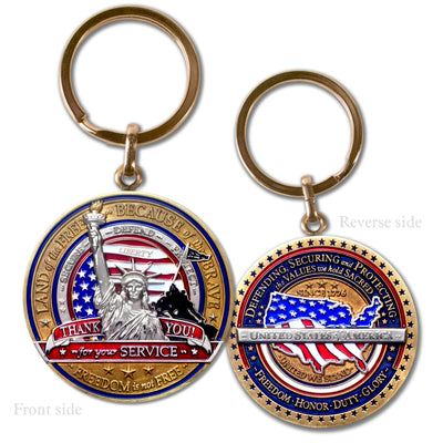 Military Appreciation Key Chain