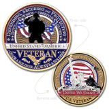 United States Flag Veteran Challenge Coin