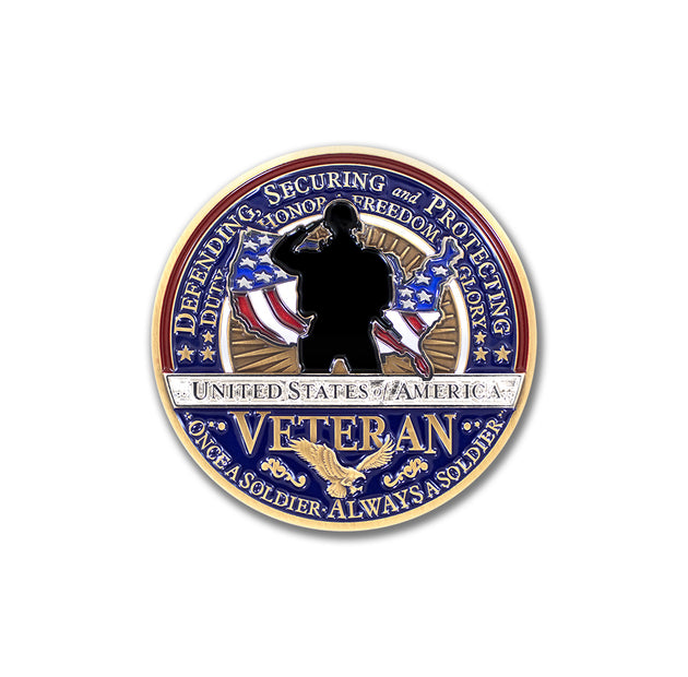 Always a Soldier Veteran Coin