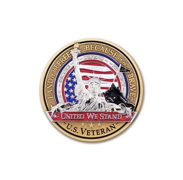 Lady Liberty Veteran Coin