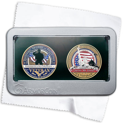 Veteran Double coin gift set