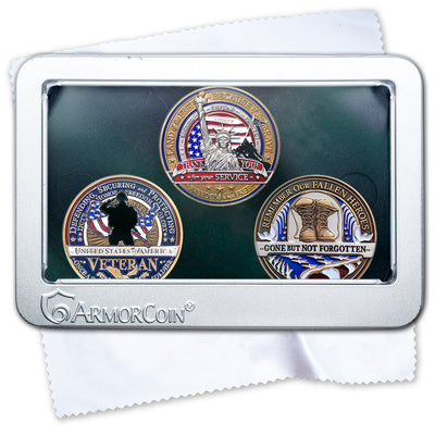 Veterans and Military and Fallen Soldier Coin Gift Set