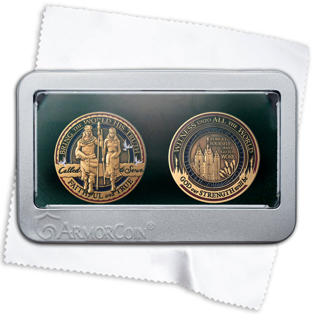 LDS Called to Serve and Missionary Medallion Gift Box Set
