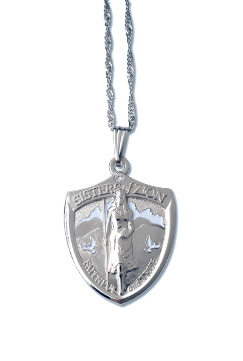 LDS Sister Missionary Pendant Necklace gift Silver