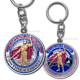 Captain Moroni Title of Liberty Key Chain