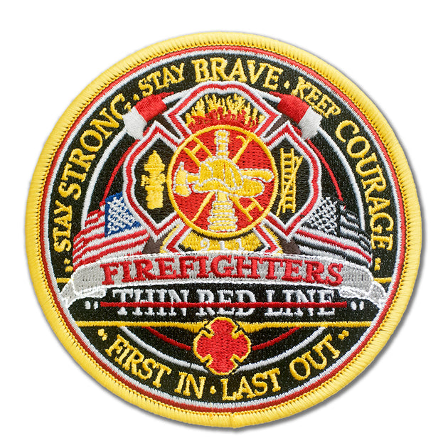 FireFighter Thin Red Line Embroidered Patch