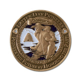 Pioneer Coin River Crossing emblem
