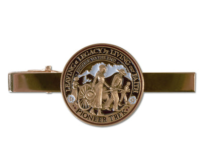 Pioneer Handcart Trek tie bar with alligator clip