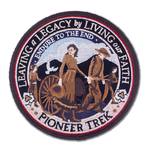 Pioneer Handcart Trek Embroidered Patch