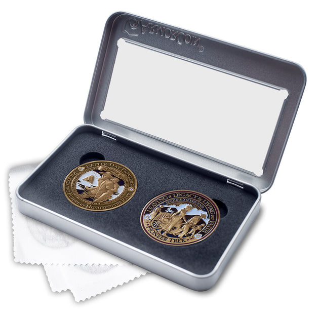 Pioneer Trek two coin gift set