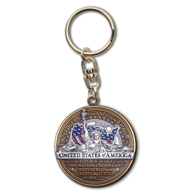 Pledge of Allegiance Key Chain
