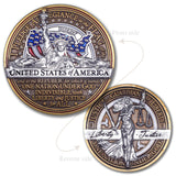 Statue of Liberty Lady Justice Coin