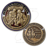 Prayer is Power antique bronze coin