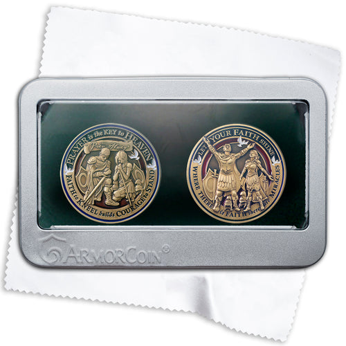 Prayer Coin and Faith Coin double coin set