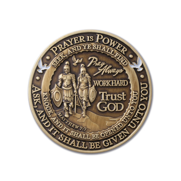 Prayer Challenge coin back side