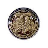 Bronze Prayer Challenge Coin