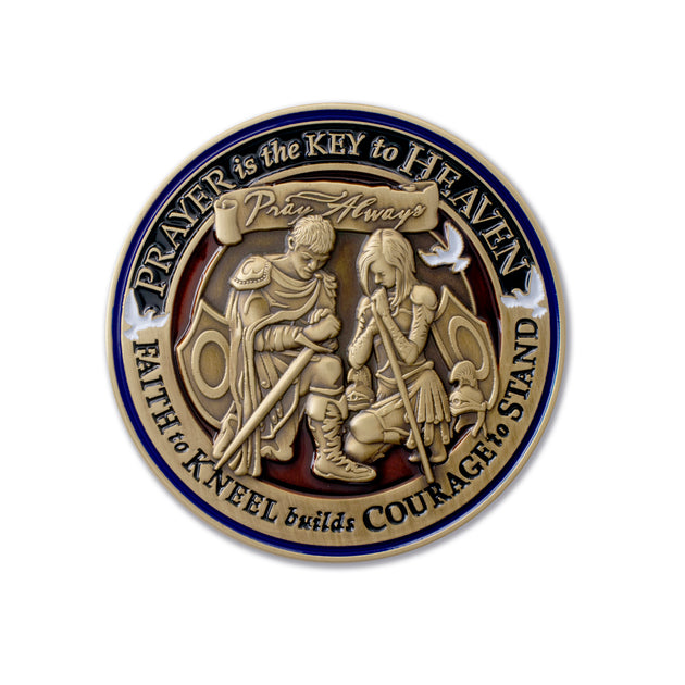 Prayer is Power Challenge Coin