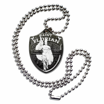Saint Florian Military Style Dogtag Necklace