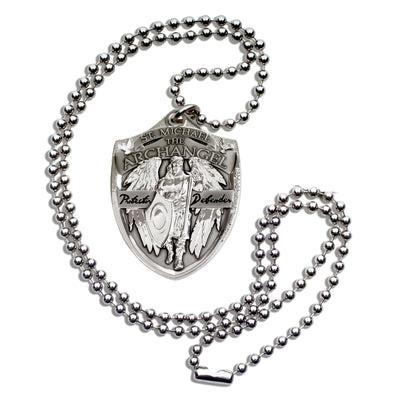 Saint Michael Military Style Dogtag