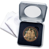 Spanish Armor of God Medallion Gift Box
