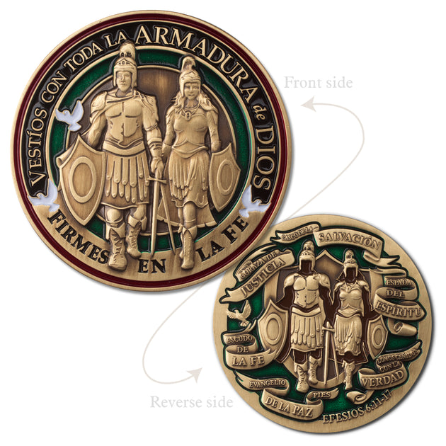 Spanish Armor of God Gift Medallion