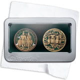 Spanish Armor of God double Medallion gift set
