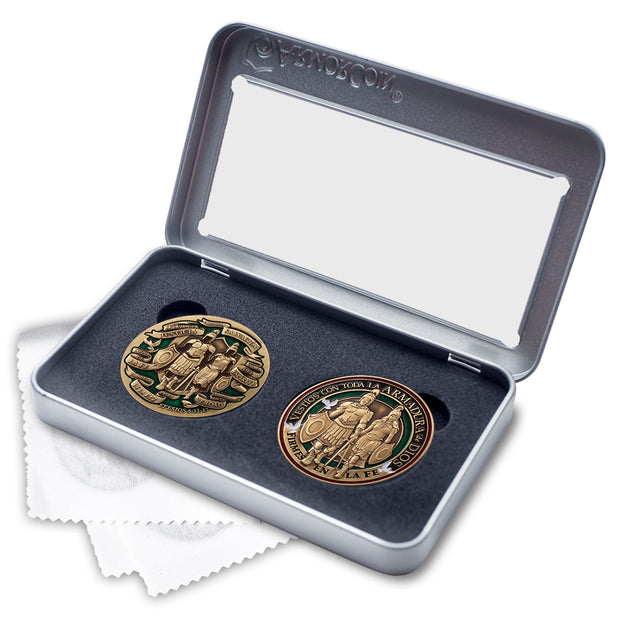 Spanish Armor of God two coin set