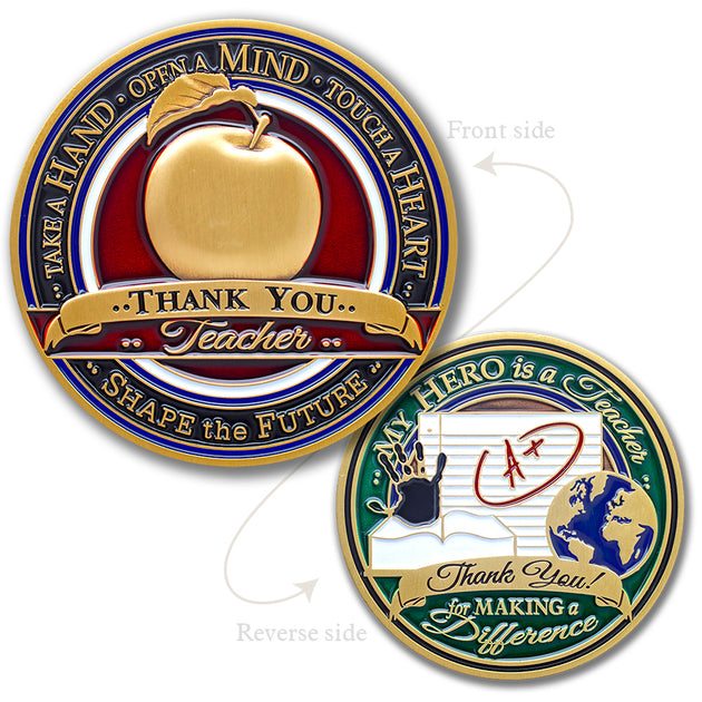 Apple for Teacher gift coin