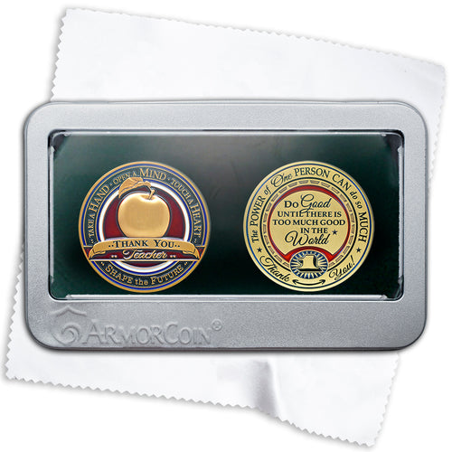 Teacher and Make a Difference double coin set