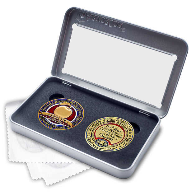 Teacher and Gratitude Coin Gift Set