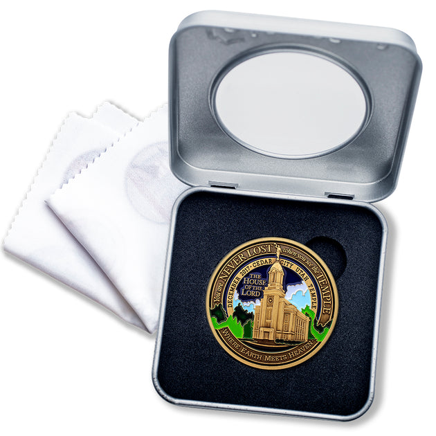 Cedar City LDS Temple Medallion Gift Box