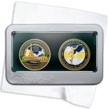 Idaho Falls Temple Double Medallion Gift Set