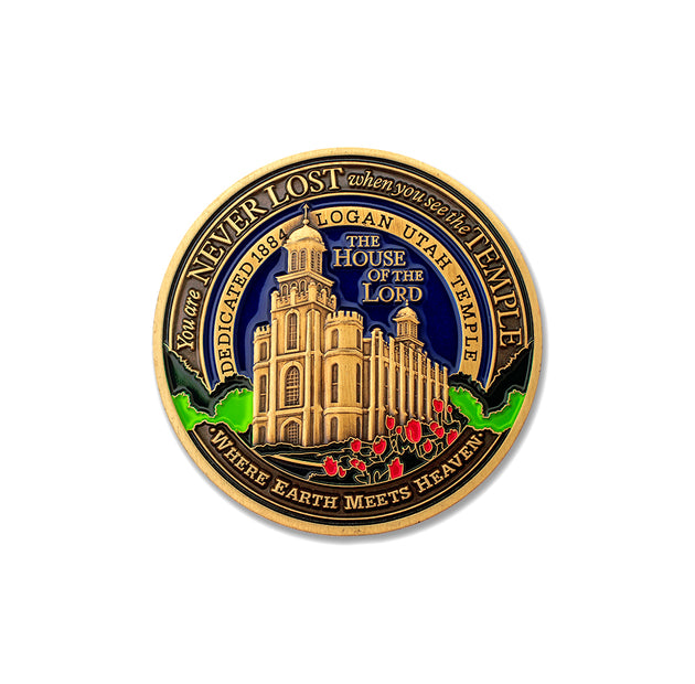 LDS Logan Temple Medallion