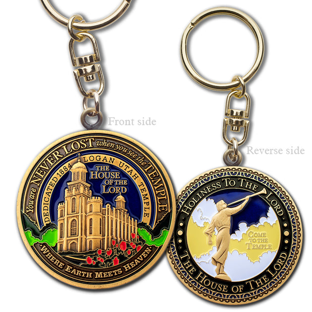 Logan Utah LDS Temple Key Chain