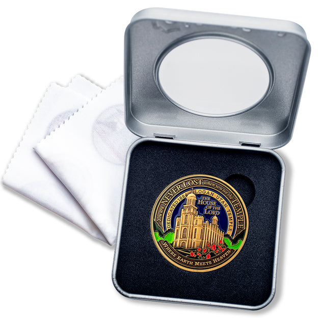 LDS Logan Temple Medallion Gift Box