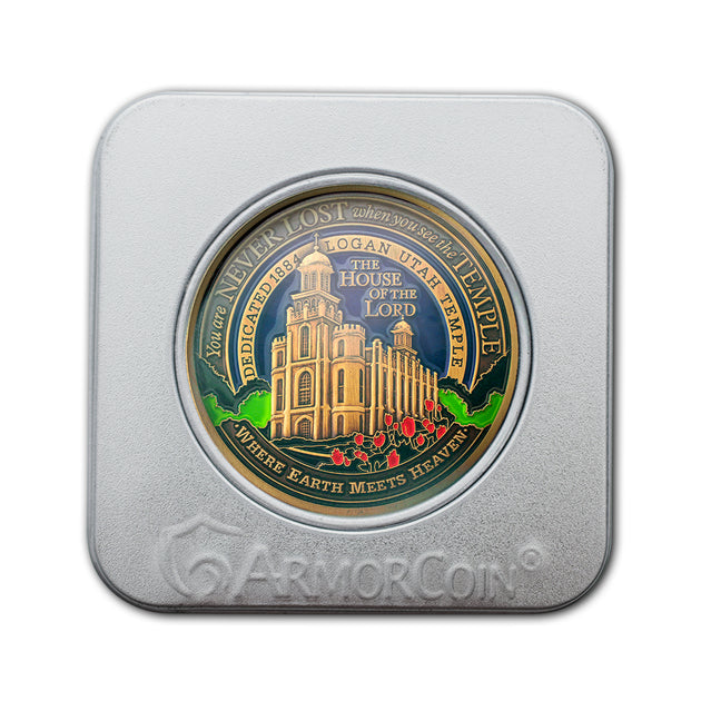 Logan LDS Temple Medallion Gift Box