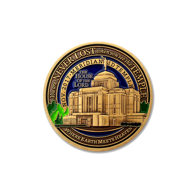 LDS Meridian Idaho Temple Medallion