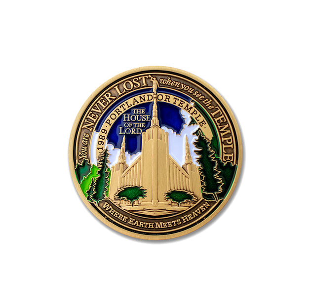 Portland LDS Temple Medallion