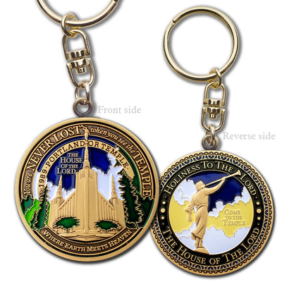 Portland LDS Temple key chain