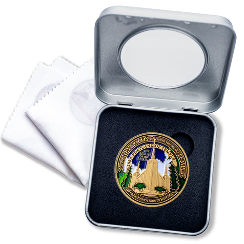 Portland LDS Temple Medallion tin gift box