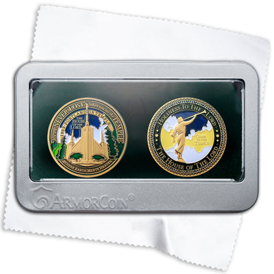 Portland Oregon LDS Temple double Medallion gift set