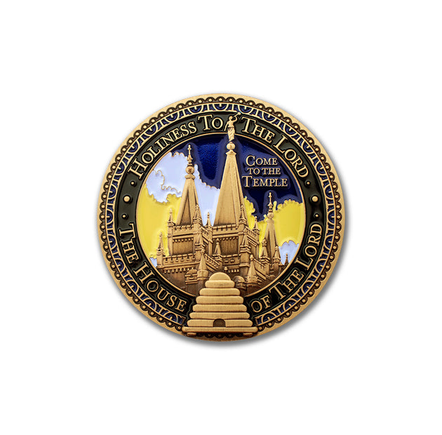 Salt Lake City Temple Silhouette medallion