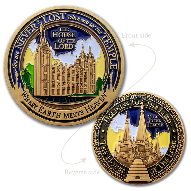 Salt Lake Temple Front and back Medallion
