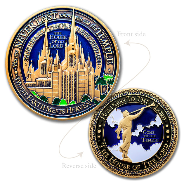 San Diego Temple Challenge Coin