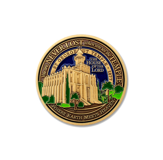 Saint George Utah Temple Medallion