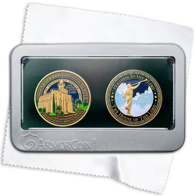 Saint George Temple Double Medallion Gift Set