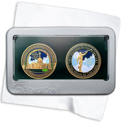 Tucson Arizona LDS Temple double medallion gift set